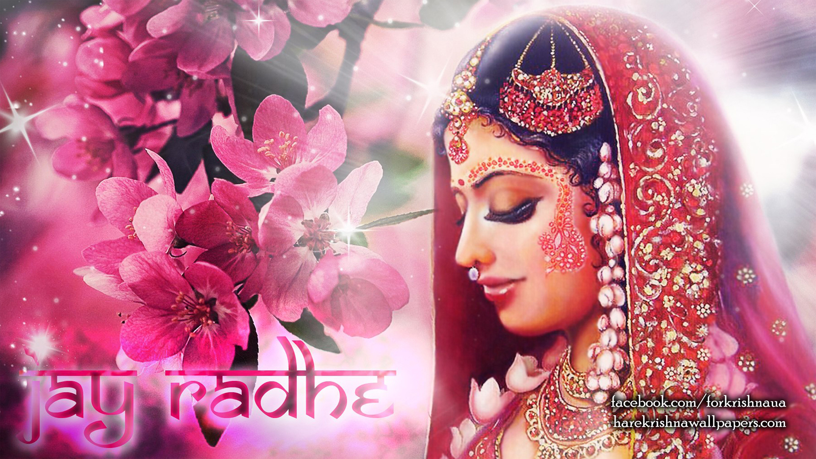 Srimati Radharani Wallpaper (002) Size 1600x900 Download