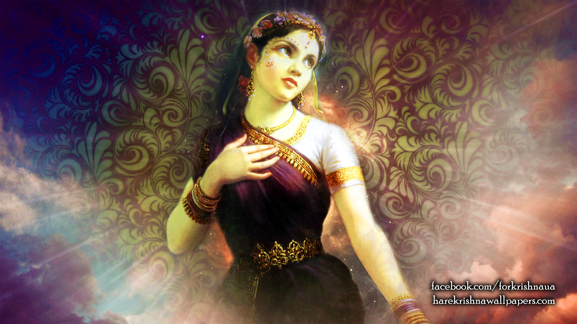Srimati Radharani Wallpaper (003) Size 2400x1350 Download