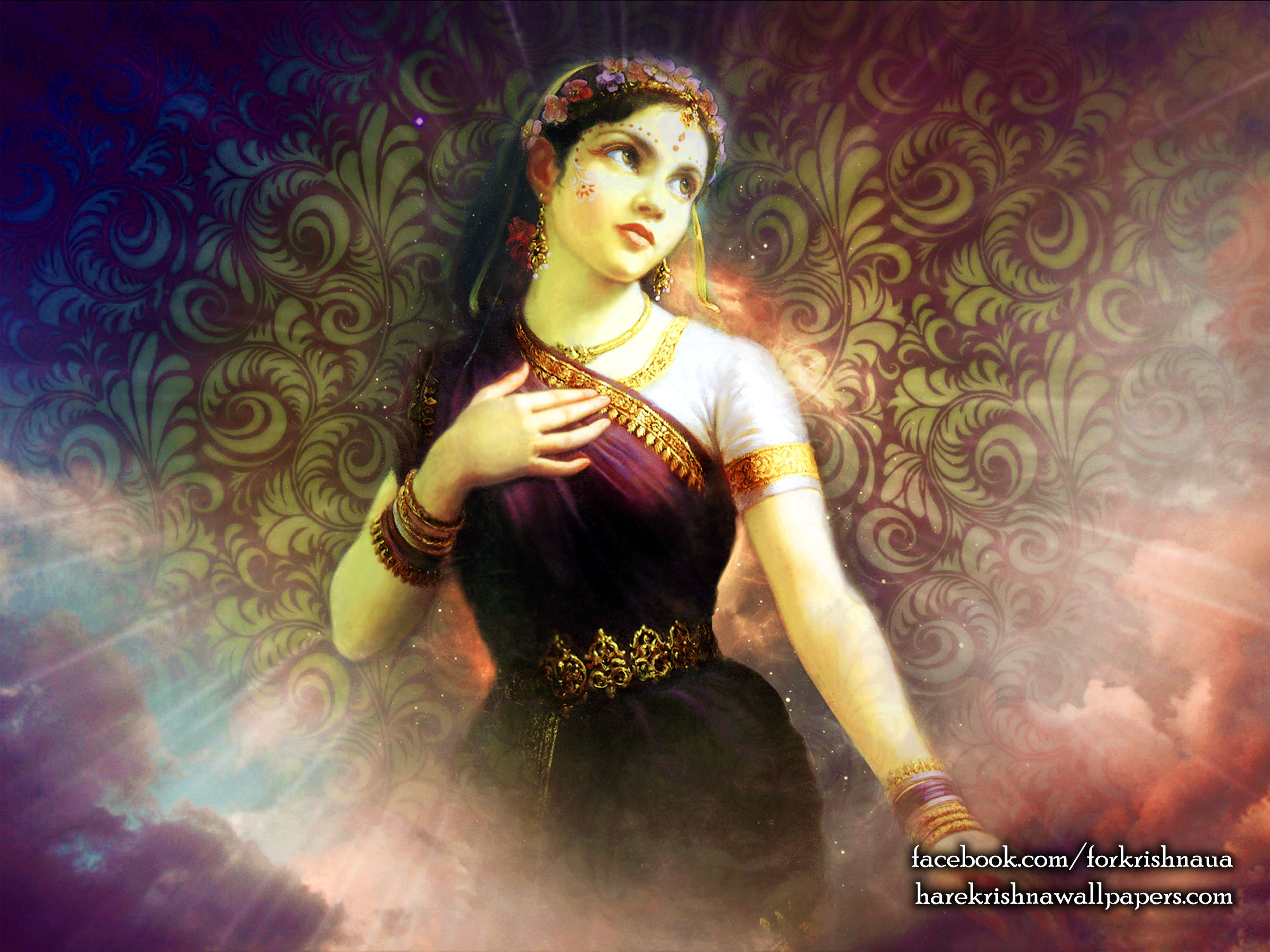 Srimati Radharani Wallpaper (003) Size 2400x1800 Download