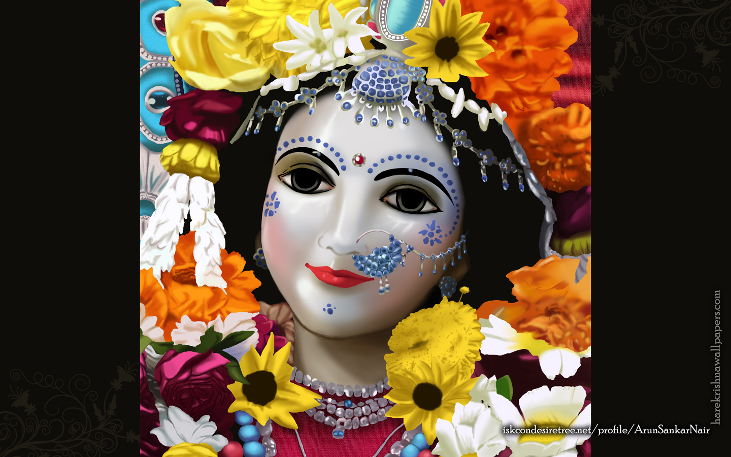 Srimati Radharani Wallpaper (005) Size 1440x900 Download
