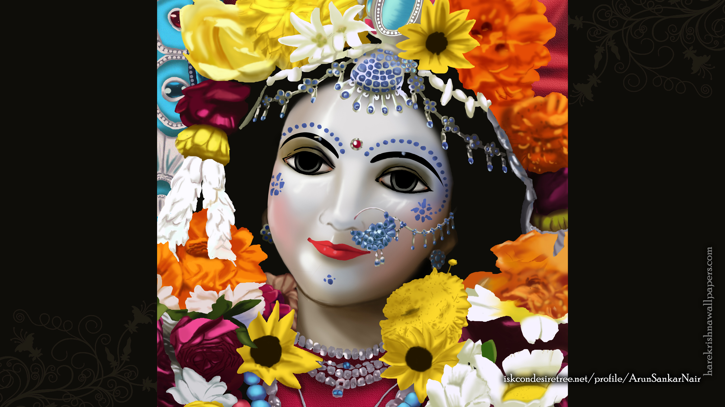 Srimati Radharani Wallpaper (005) Size 2400x1350 Download