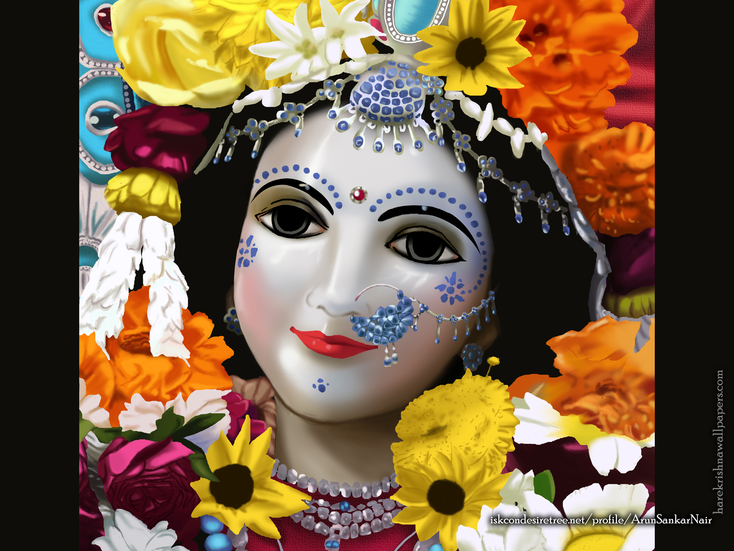 Srimati Radharani Wallpaper (005) Size 2400x1800 Download