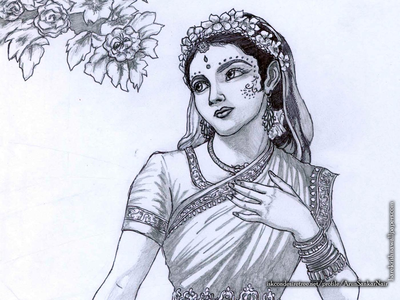 Srimati Radharani Wallpaper (006) Size 1400x1050 Download