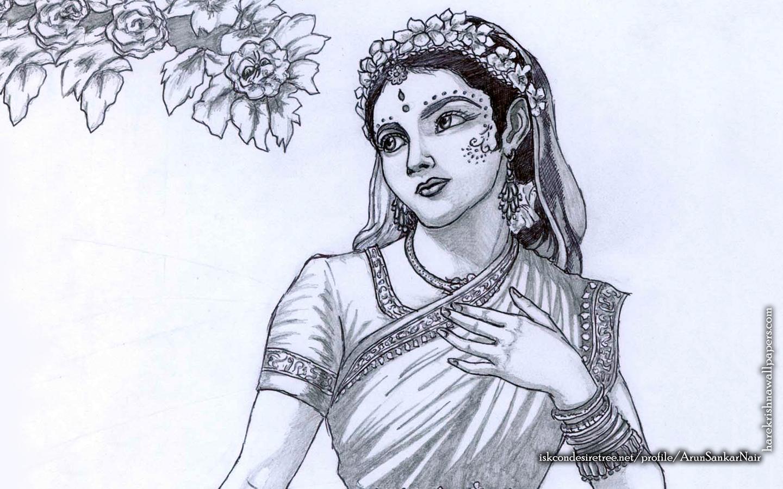 Srimati Radharani Wallpaper (006) Size 1440x900 Download