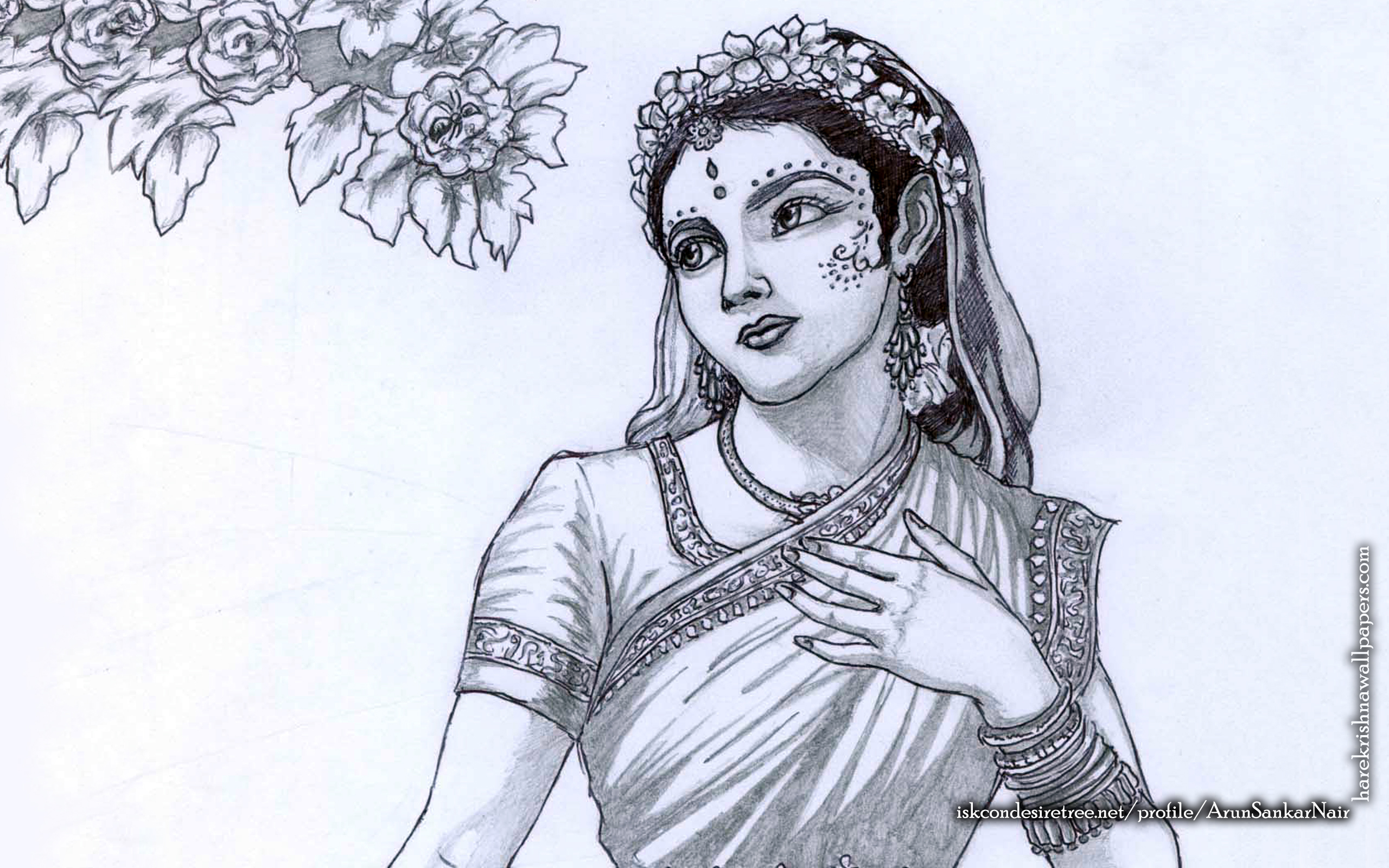Srimati Radharani Wallpaper (006) Size 2560x1600 Download