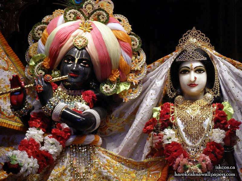 Sri Sri Radha Khirachora Gopinath Close up Wallpaper (009)