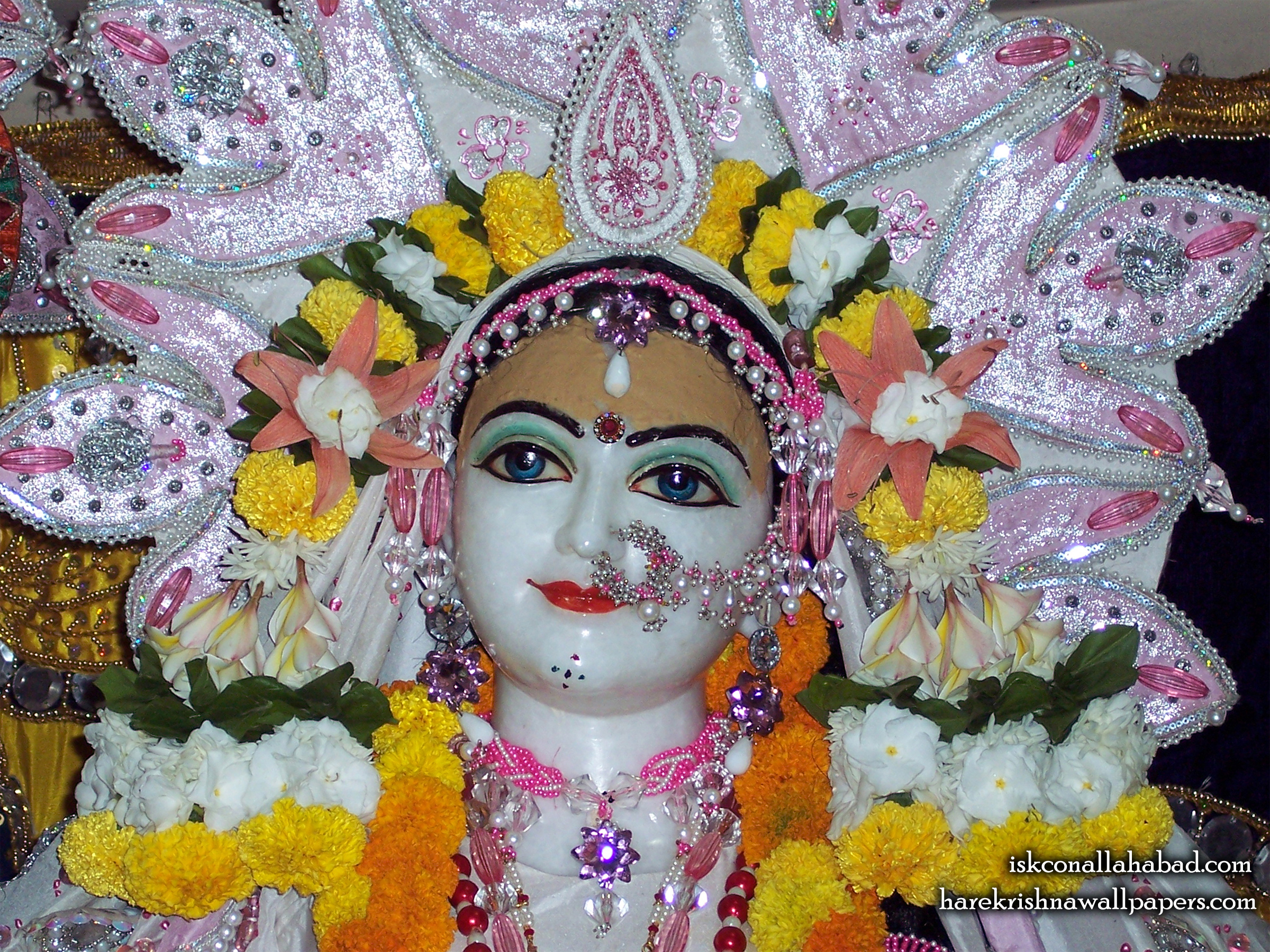 Sri Radha Close up Wallpaper (001) Size 2400x1800 Download