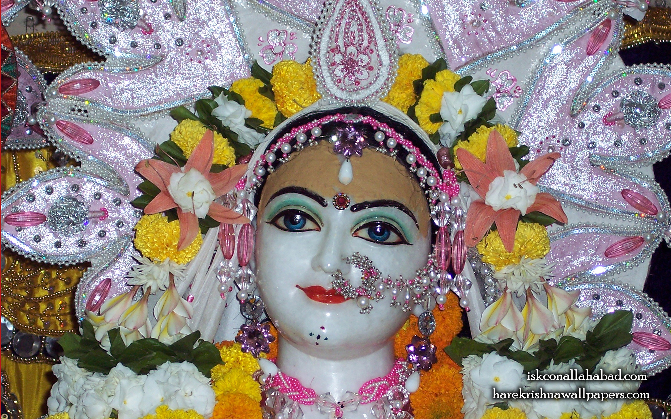 Sri Radha Close up Wallpaper (001) Size 2560x1600 Download