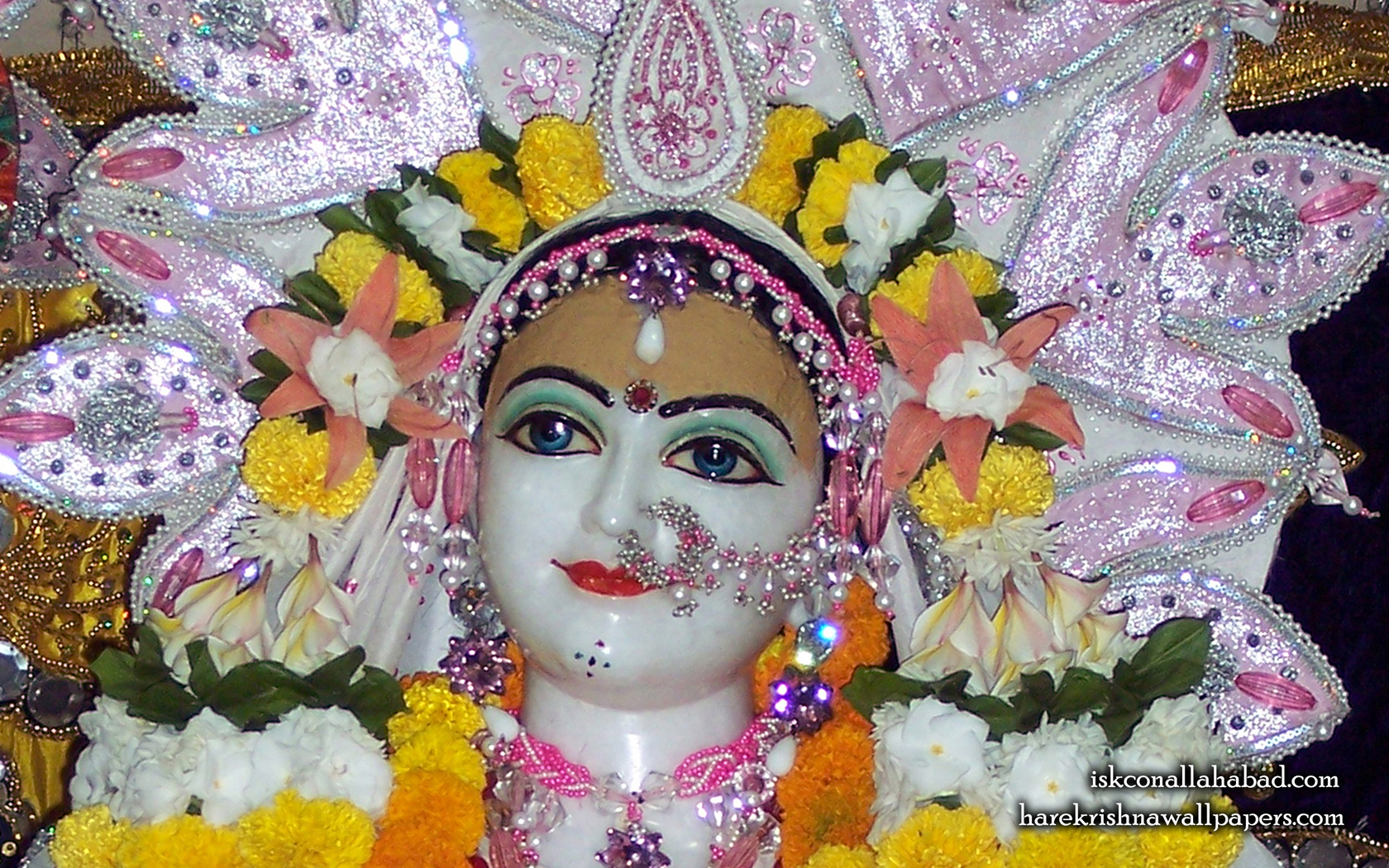 Sri Radha Close up Wallpaper (003) Size 1680x1050 Download