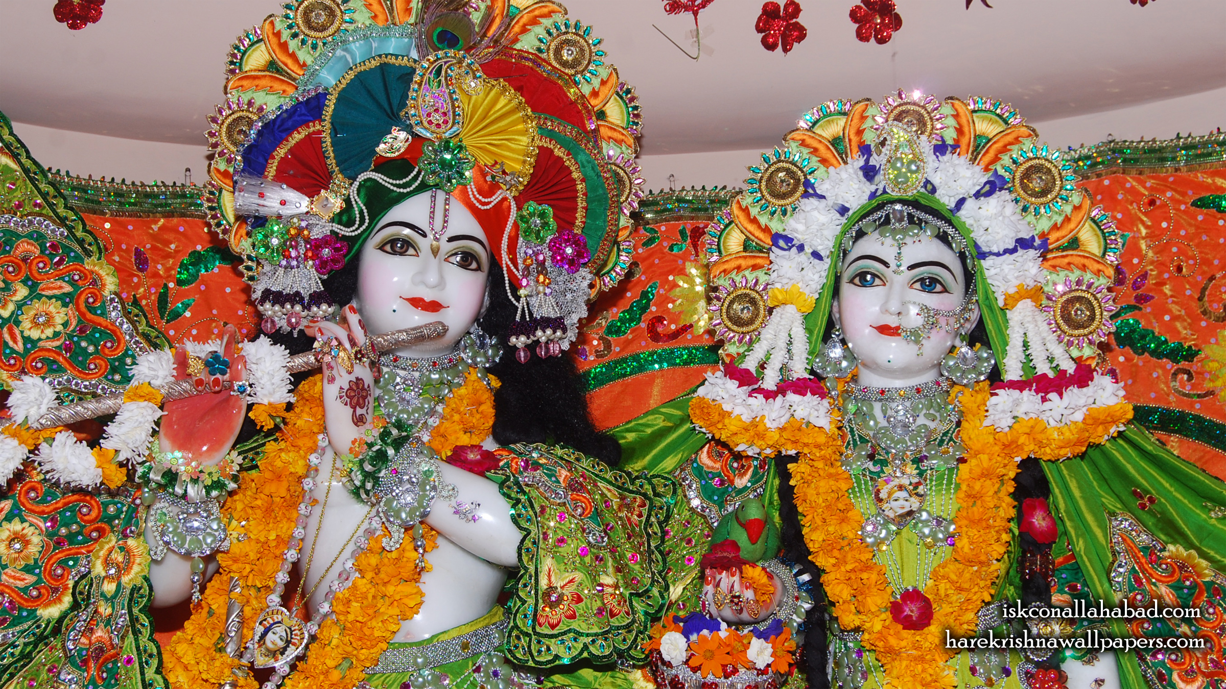 Sri Sri Radha Venimadhava Close up Wallpaper (004) Size 2400x1350 Download