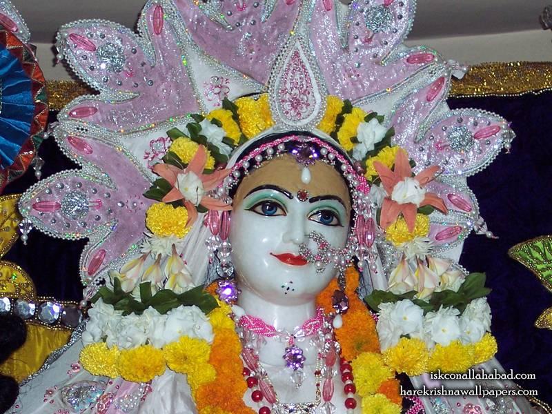 Sri Radha Close up Wallpaper