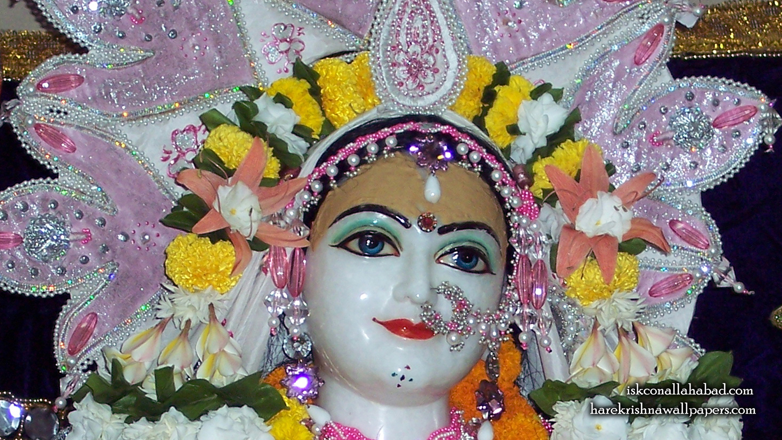Sri Radha Close up Wallpaper (005) Size 1600x900 Download