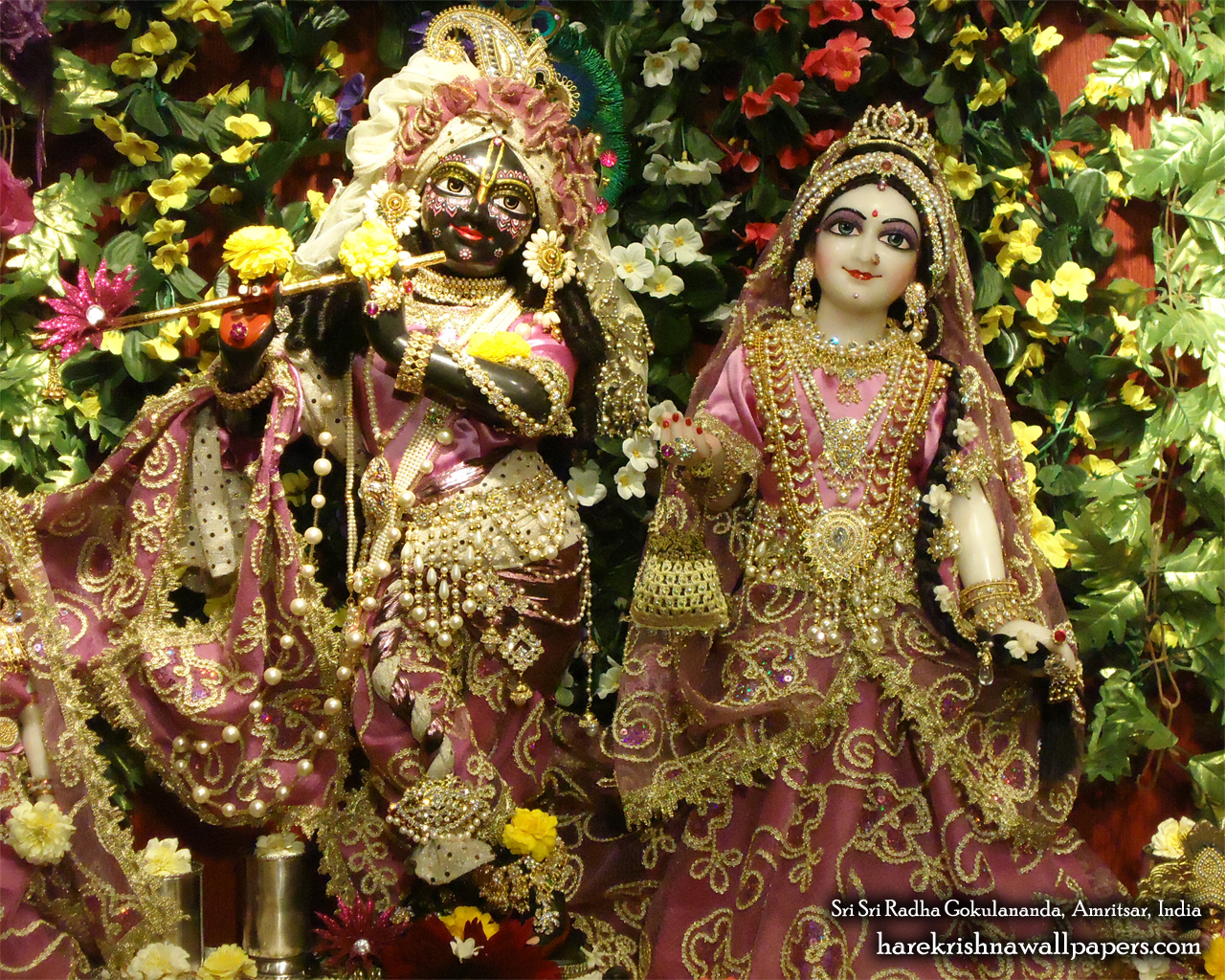 Sri Sri Radha Gokulananda Wallpaper (003) Size 1280x1024 Download