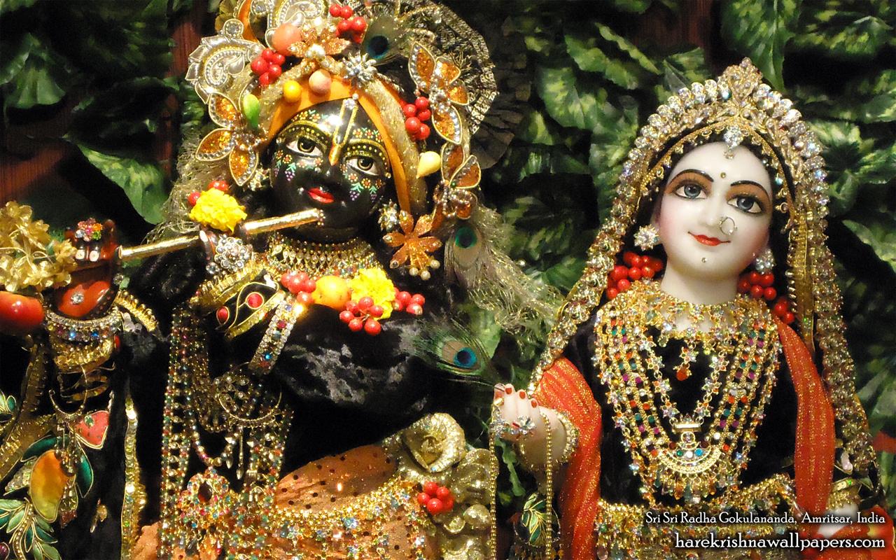 Sri Sri Radha Gokulananda Close up Wallpaper (004) Size 1280x800 Download