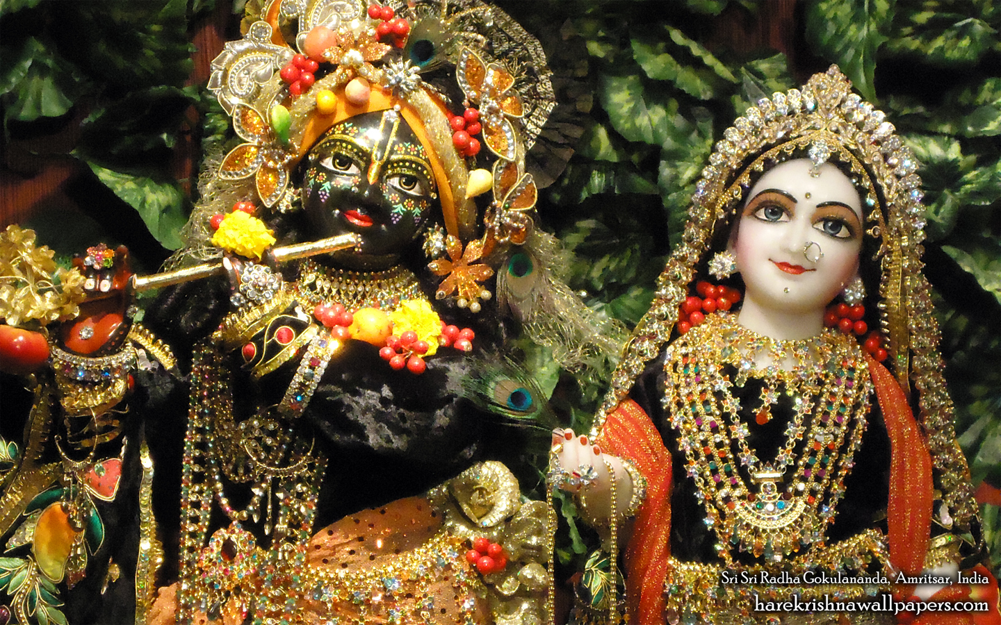 Sri Sri Radha Gokulananda Close up Wallpaper (004) Size 1440x900 Download