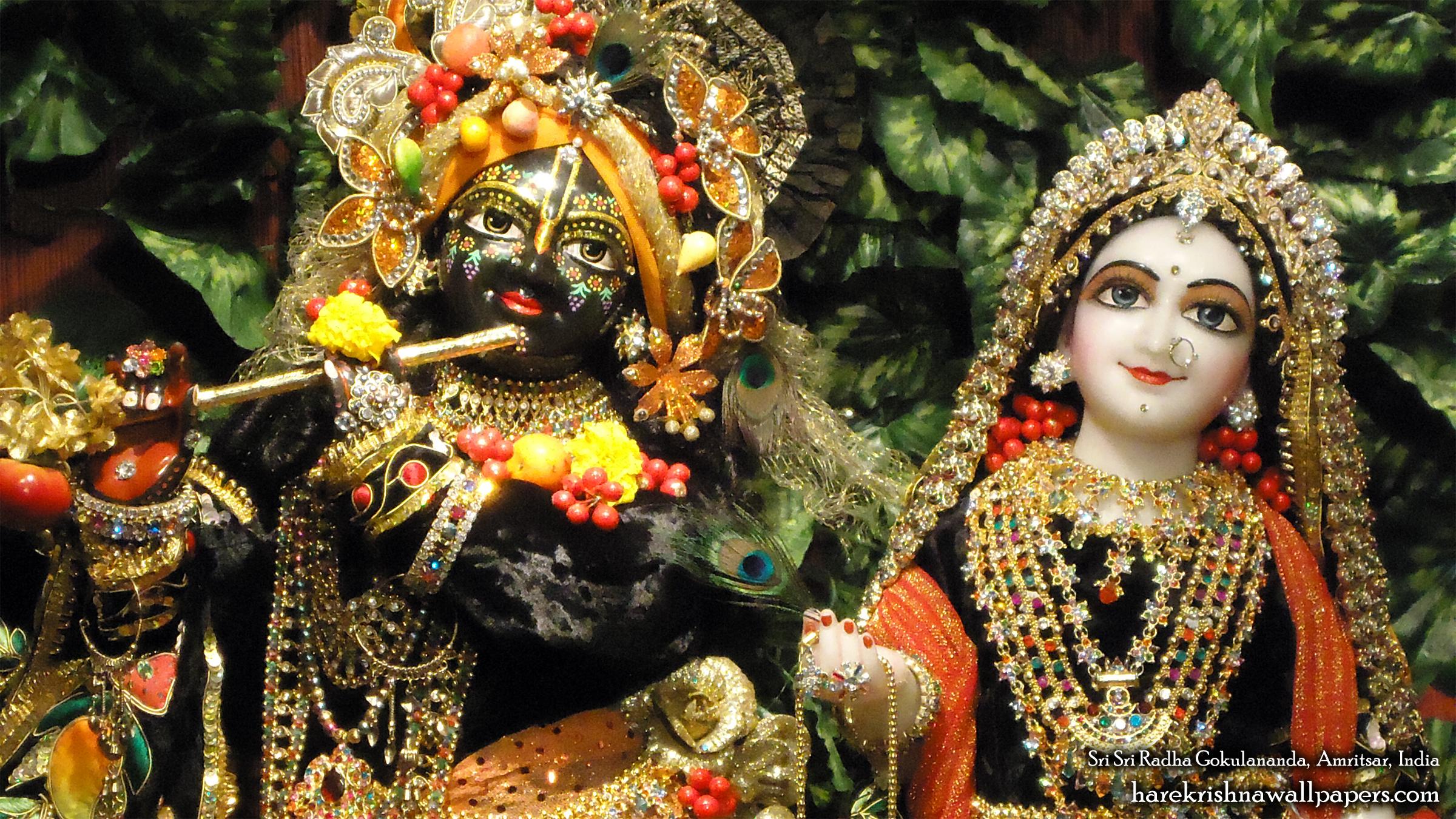 Sri Sri Radha Gokulananda Close up Wallpaper (004) Size 2400x1350 Download