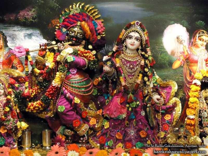 Sri Radha Close up Wallpaper (005)