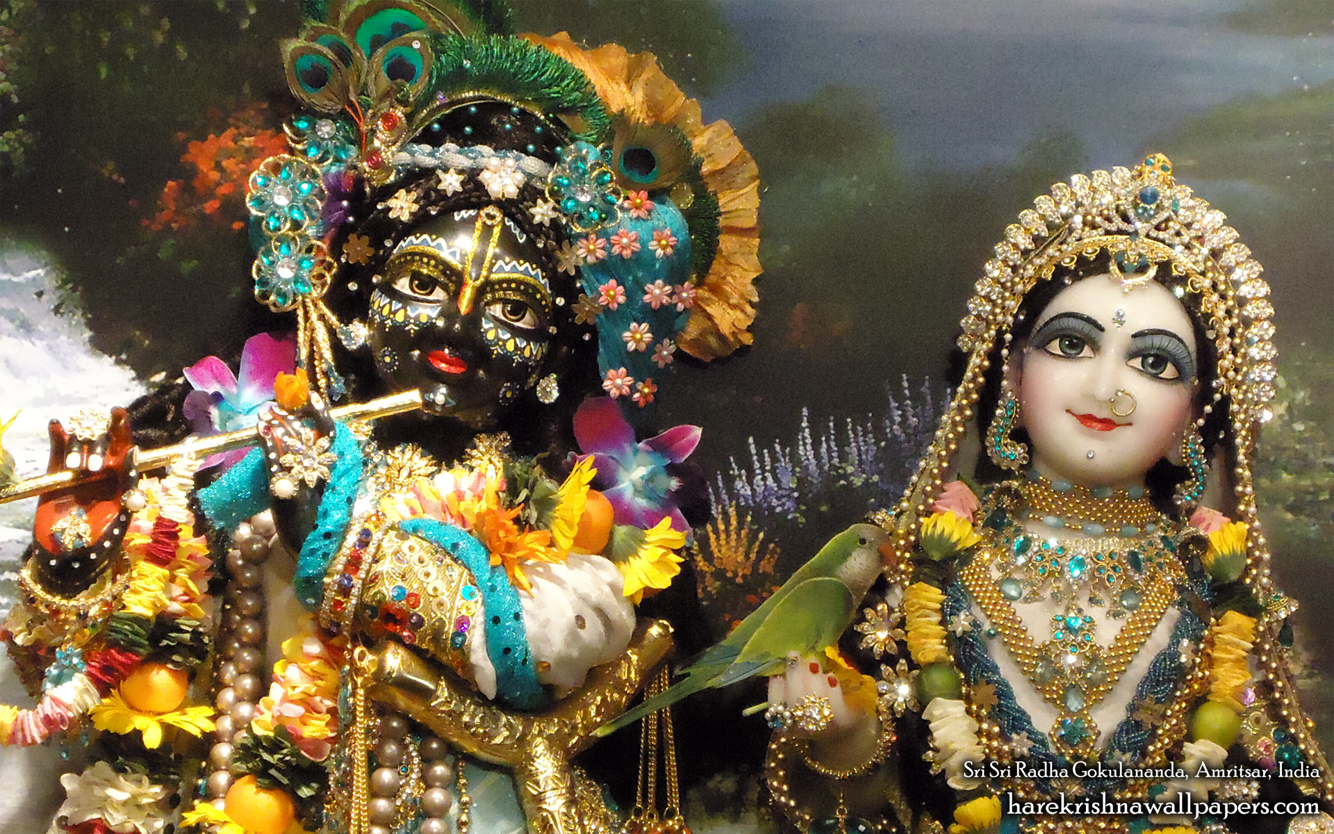 Sri Sri Radha Gokulananda Close up Wallpaper (007) Size 1920x1200 Download