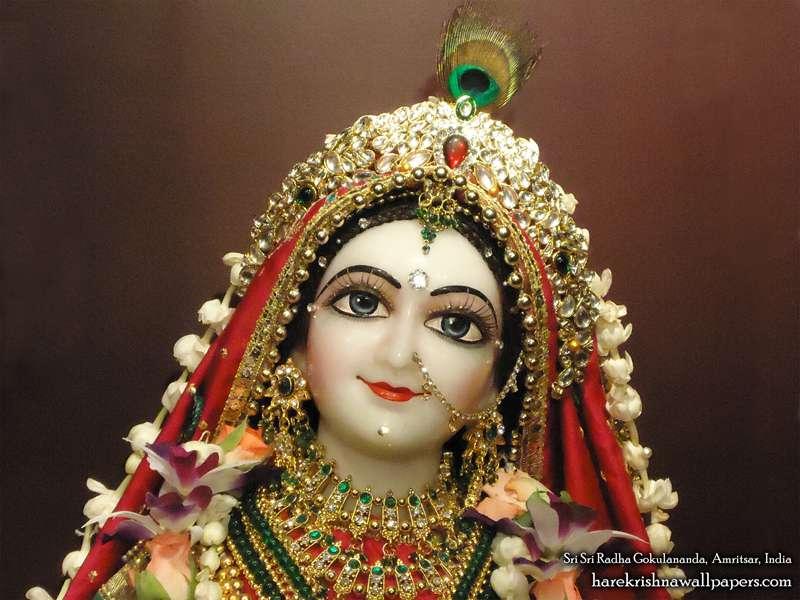 Sri Radha Close up Wallpaper (008)