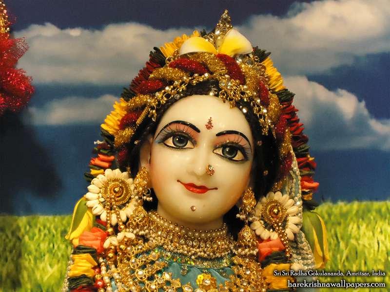 Sri Radha Close up Wallpaper (011)