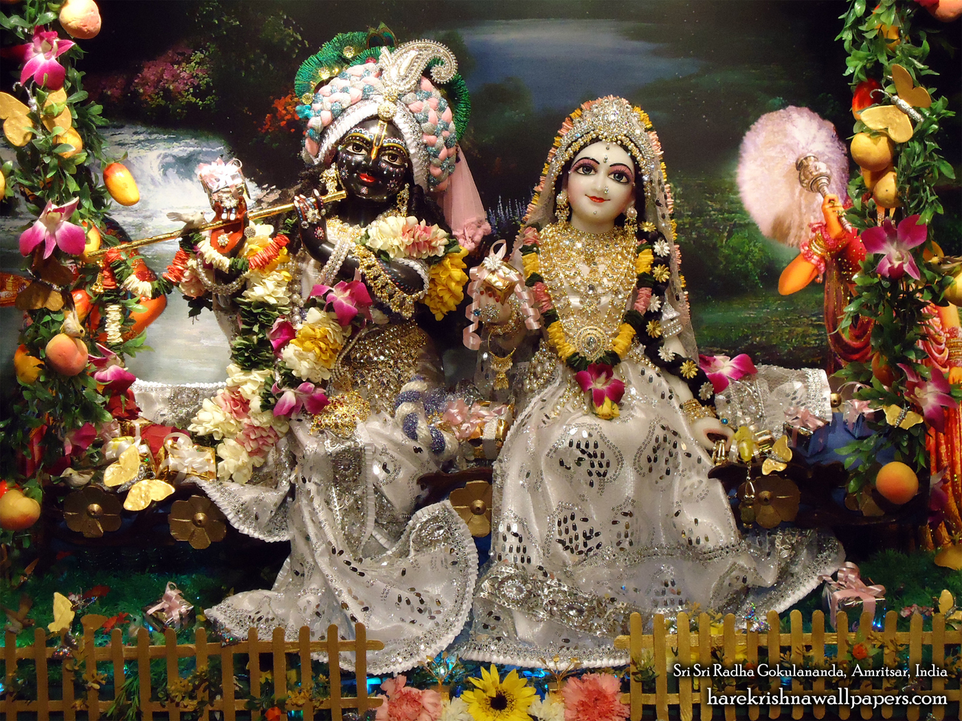 Sri Sri Radha Gokulananda Wallpaper (012) Size 1400x1050 Download