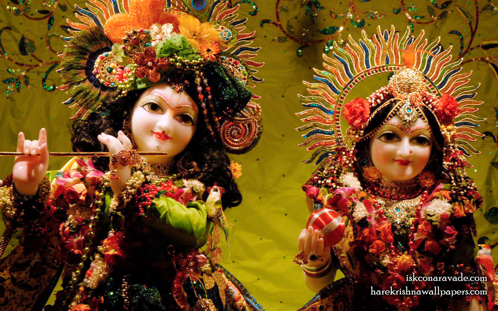 Sri Sri Radha Gopal Close up Wallpaper (001) Size 1680x1050 Download