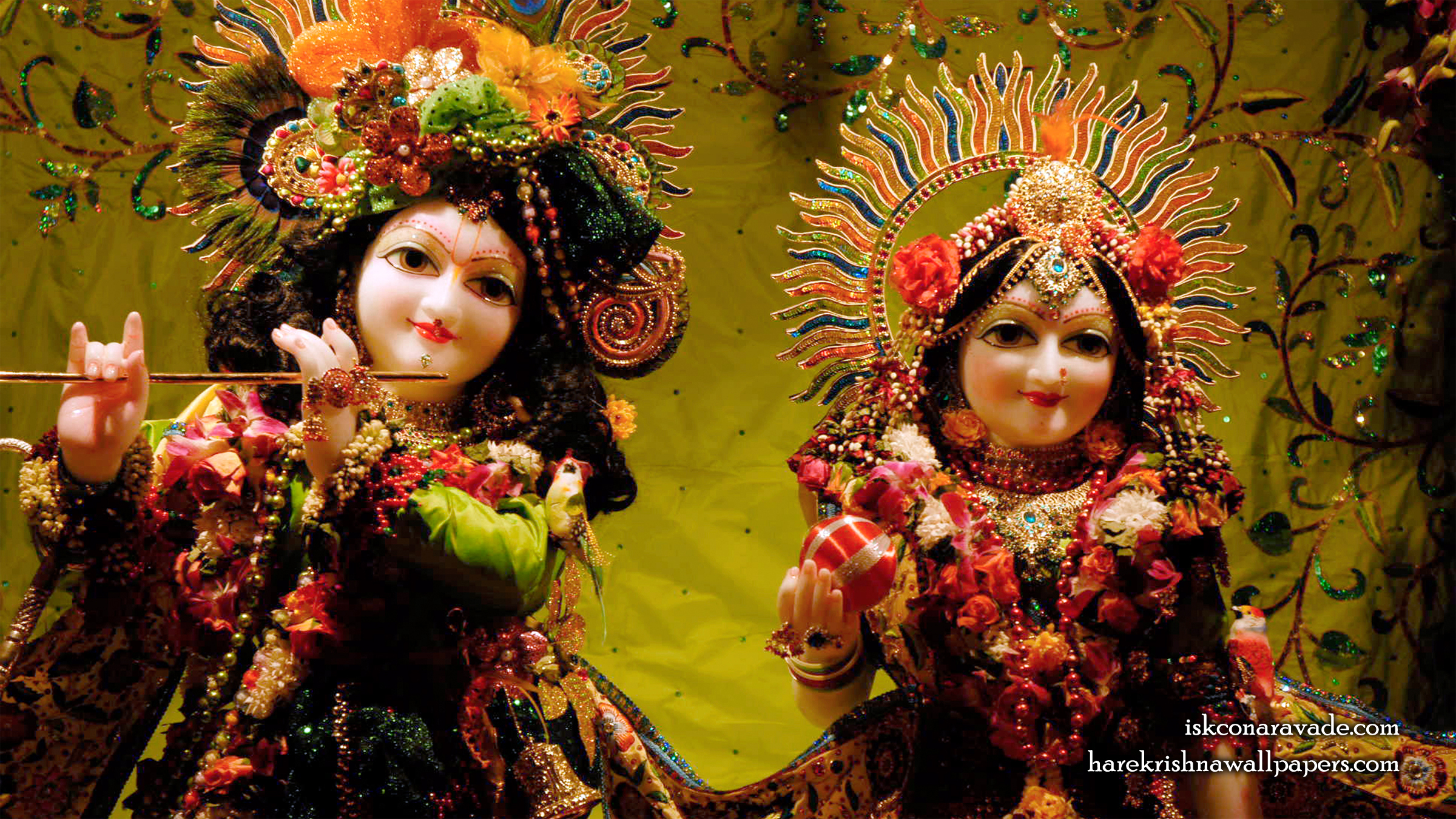 Sri Sri Radha Gopal Close up Wallpaper (001) Size 2400x1350 Download