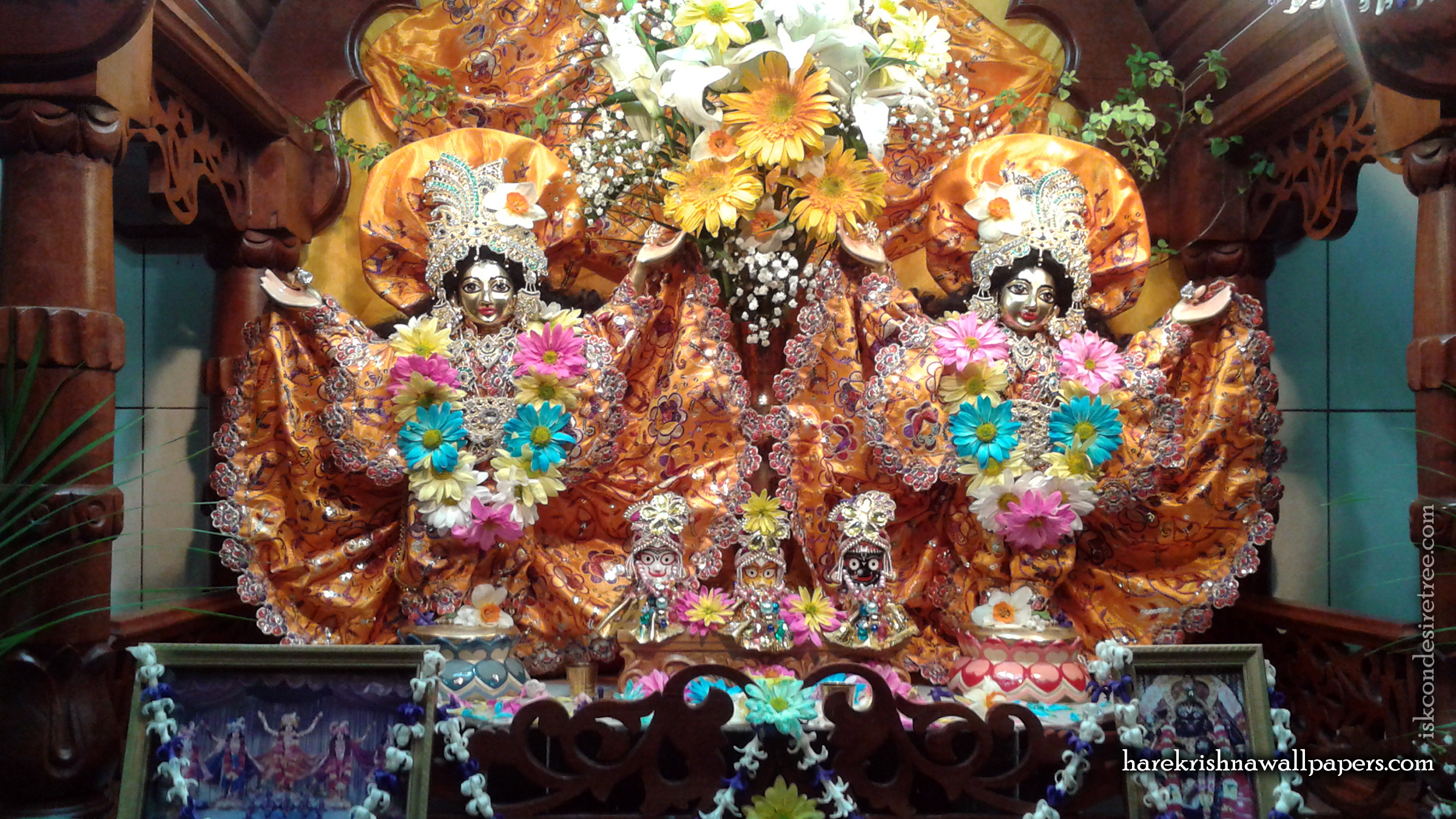 Sri Sri Gaura Nitai Wallpaper (001) Size 2400x1350 Download