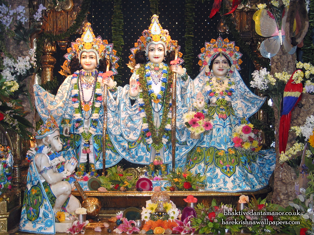 Sri Sri Sita Rama Laxman Hanuman Wallpaper (001) Size 1024x768 Download