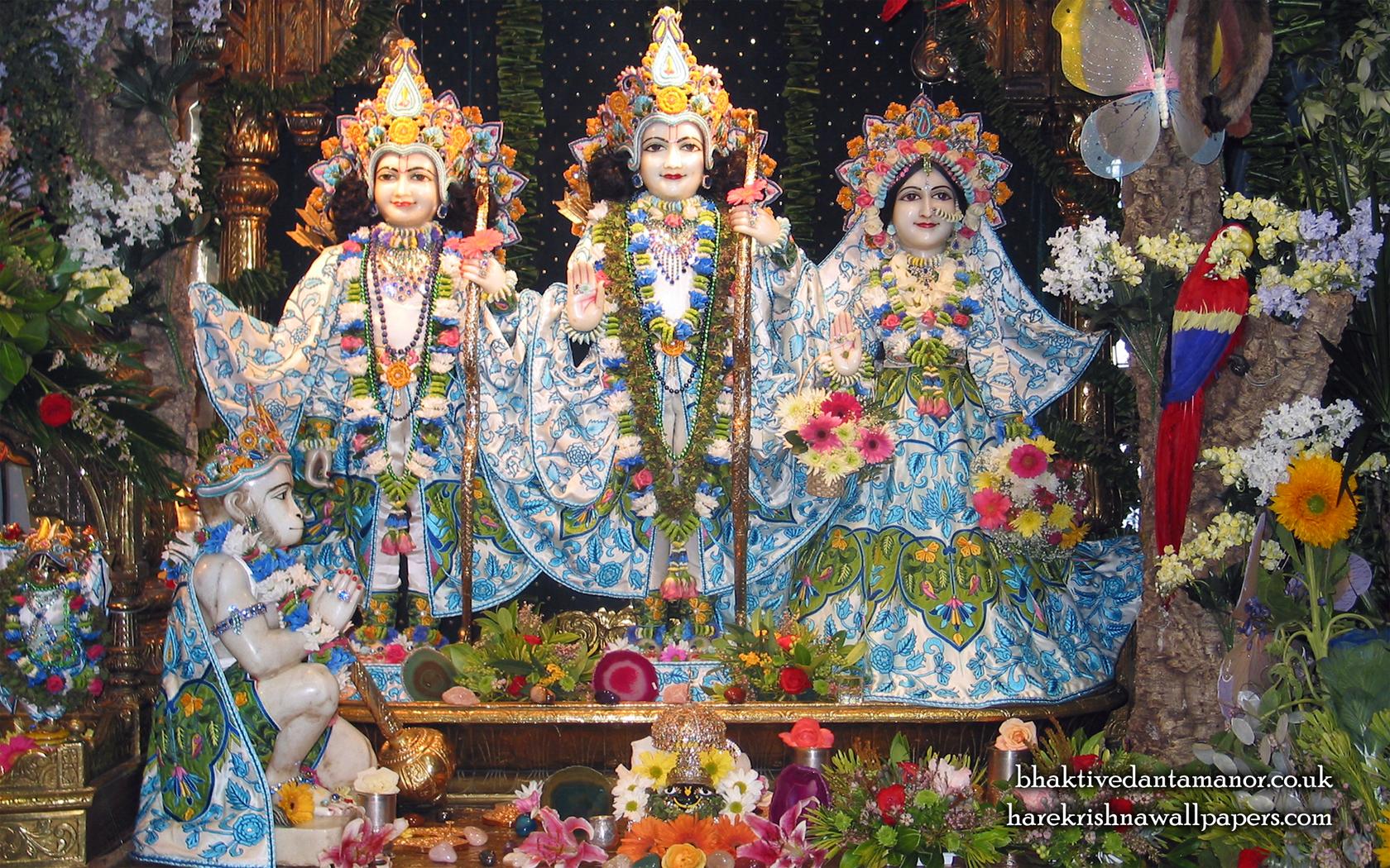 Sri Sri Sita Rama Laxman Hanuman Wallpaper (001) Size 1680x1050 Download