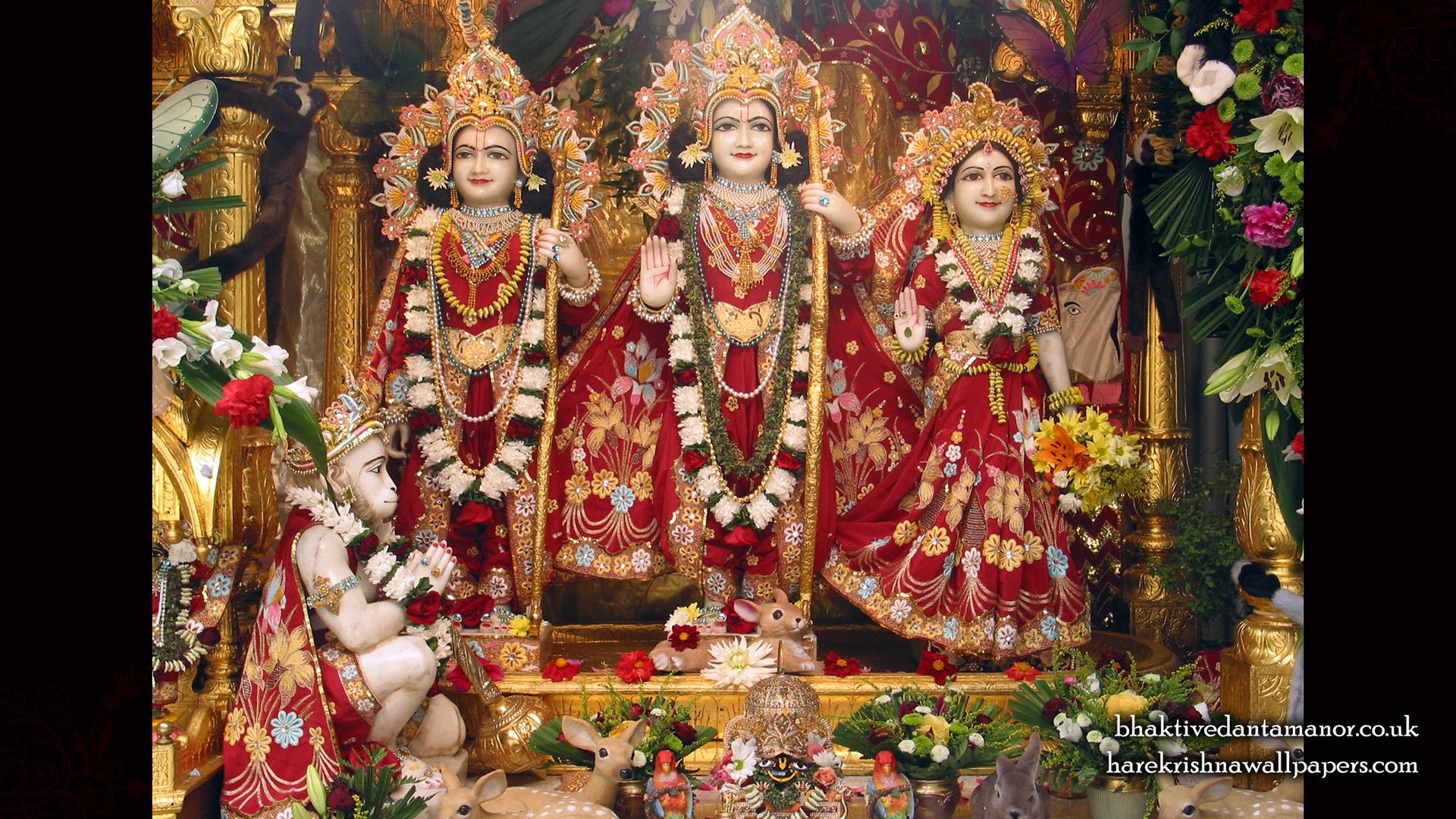 Sri Sri Sita Rama Laxman Hanuman Wallpaper (002) Size 1920x1080 Download