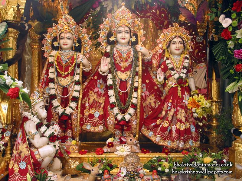 Sri Sri Sita Rama Laxman Hanuman Wallpaper (002) Size 800x600 Download