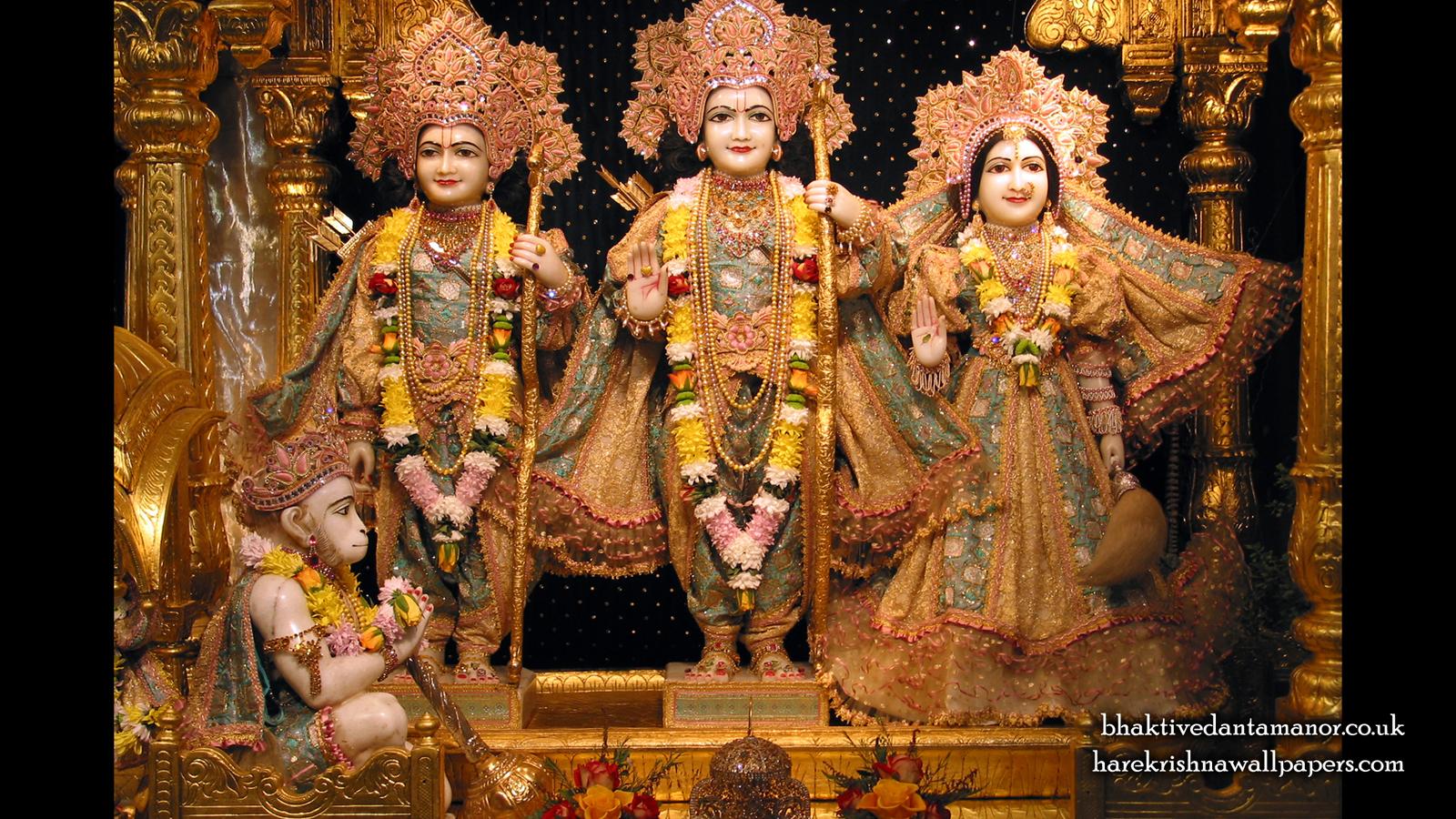 Sri Sri Sita Rama Laxman Hanuman Wallpaper (003) Size 1600x900 Download