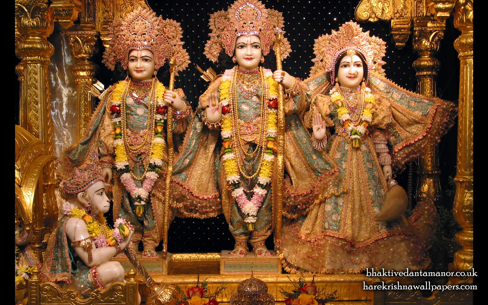 Sri Sri Sita Rama Laxman Hanuman Wallpaper (003) Size 1680x1050 Download