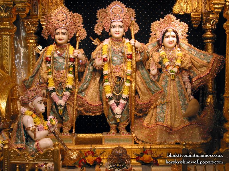 Sri Sri Sita Rama Laxman Hanuman Wallpaper (003) Size 800x600 Download