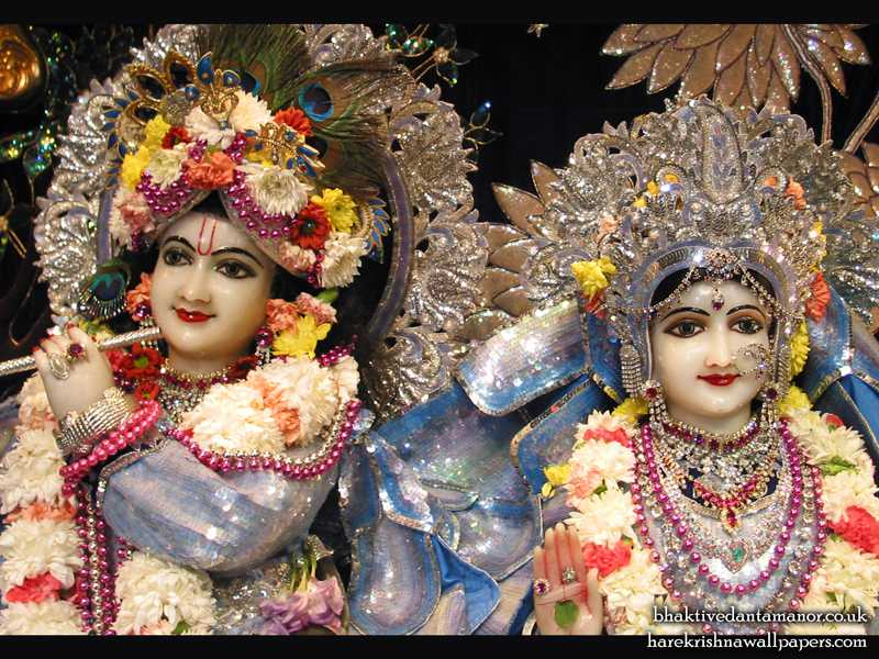 Sri Sri Radha Gokulanand Close up Wallpaper (004)