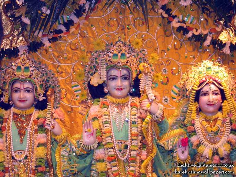 Sri Sri Sita Rama Laxman Close up Wallpaper (004)