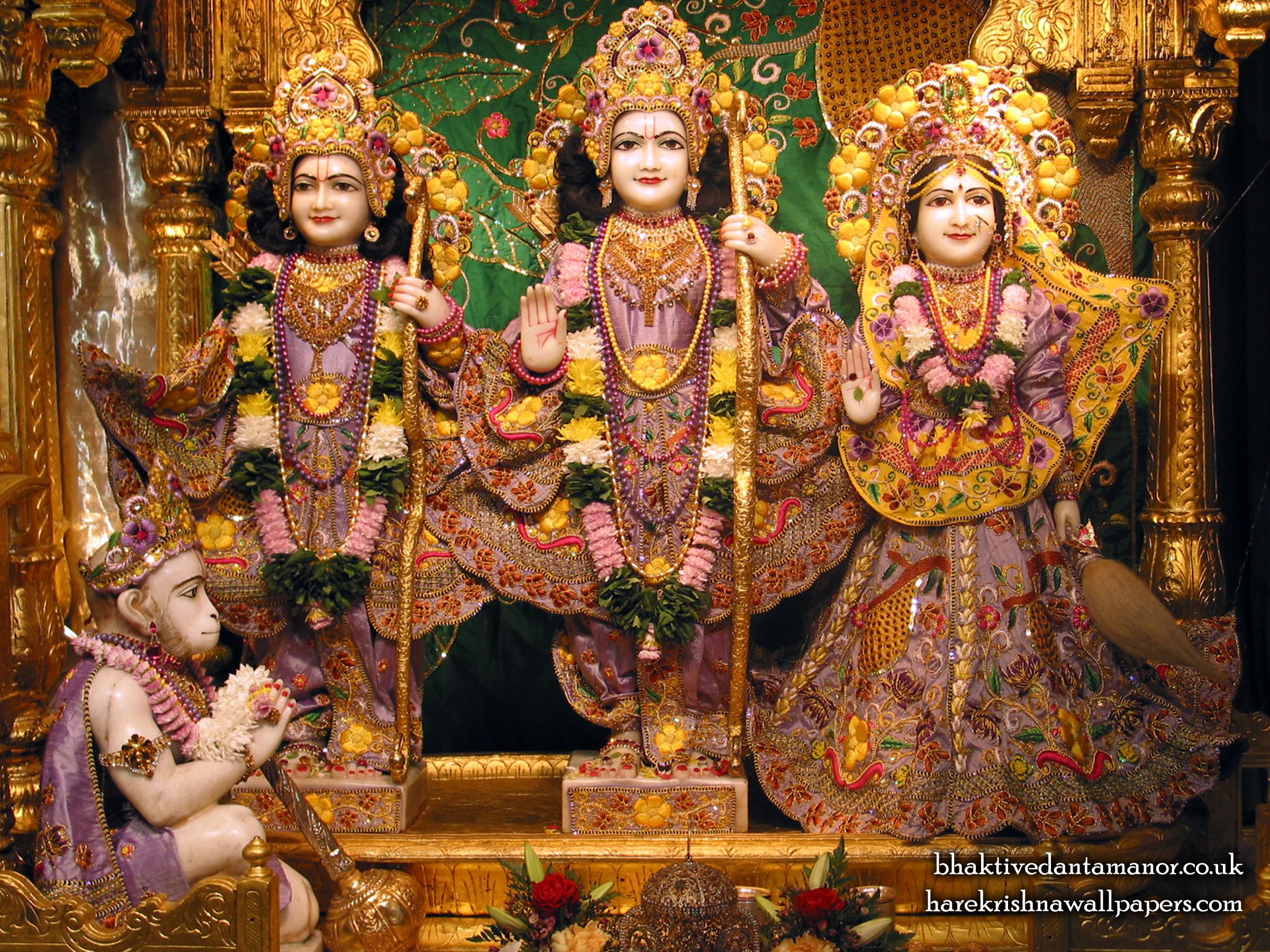 Sri Sri Sita Rama Laxman Hanuman Wallpaper (004) Size 2400x1800 Download