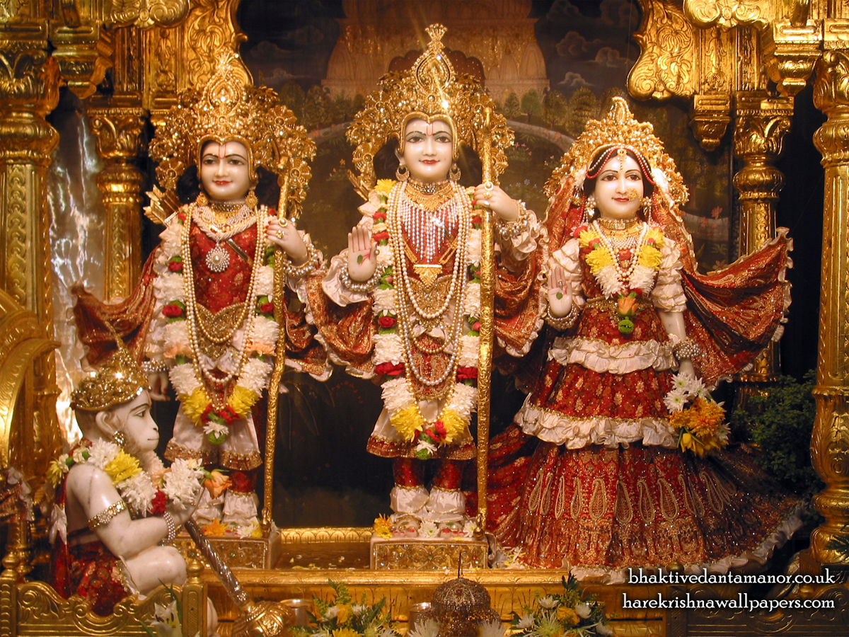 Sri Sri Sita Rama Laxman Hanuman Wallpaper (006) Size 1200x900 Download