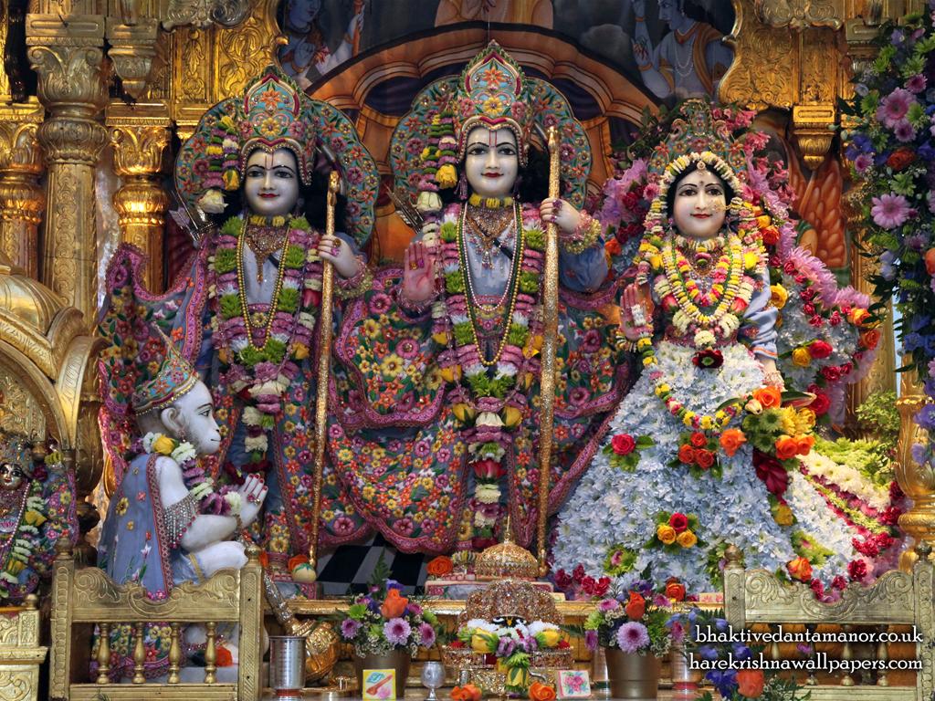 Sri Sri Sita Rama Laxman Hanuman Wallpaper (007) Size 1024x768 Download