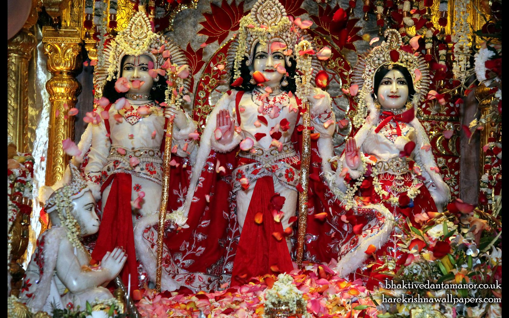 Sri Sri Sita Rama Laxman Hanuman Wallpaper (009) Size 1680x1050 Download