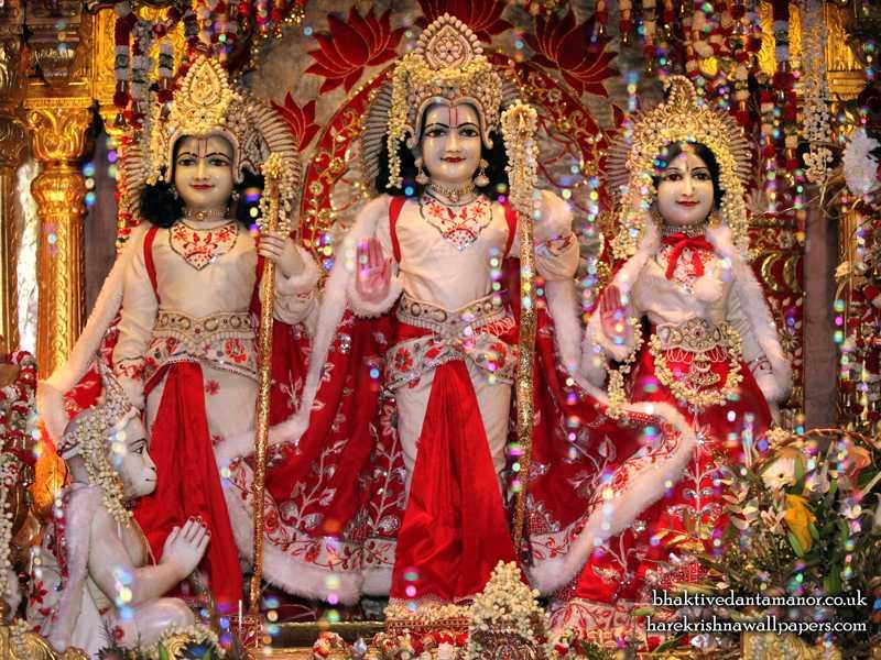 Sri Sri Sita Rama Close up Wallpaper (010)