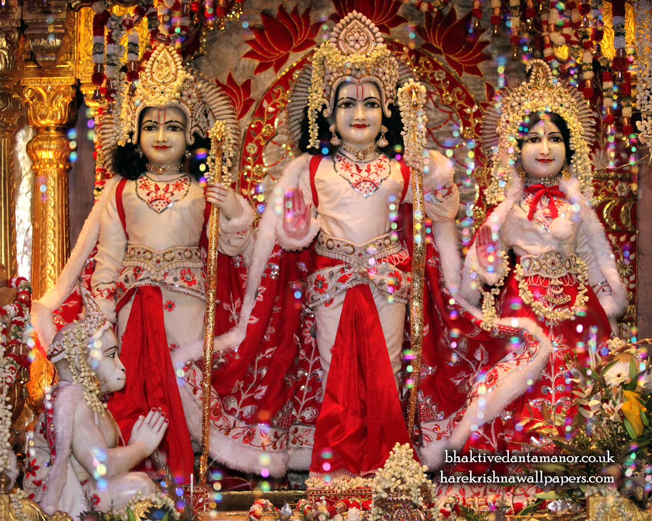 Sri Sri Sita Rama Laxman Hanuman Wallpaper (010) Size 1280x1024 Download