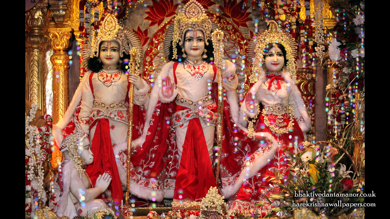Sri Sri Sita Rama Laxman Hanuman Wallpaper (010) Size 1600x900 Download