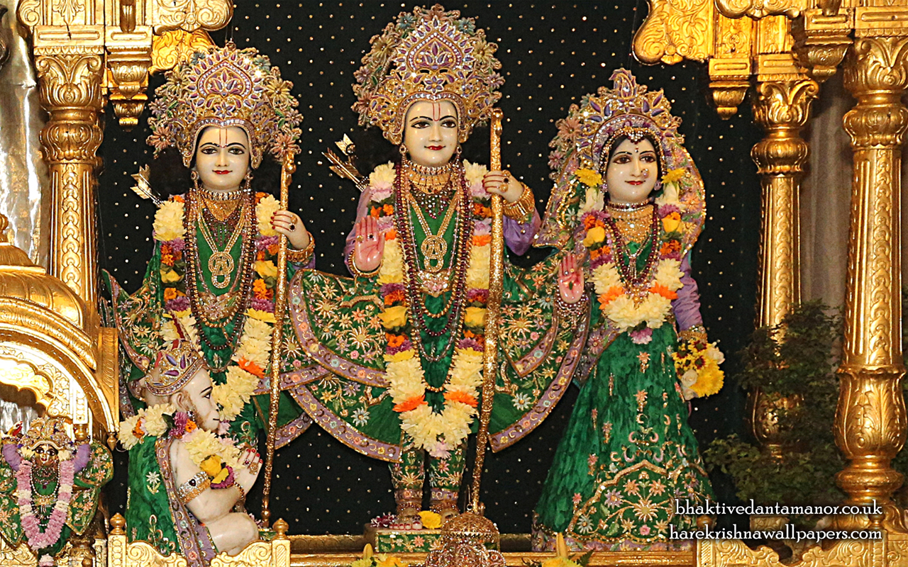 Sri Sri Sita Rama Laxman Hanuman Wallpaper (013) Size 1280x800 Download
