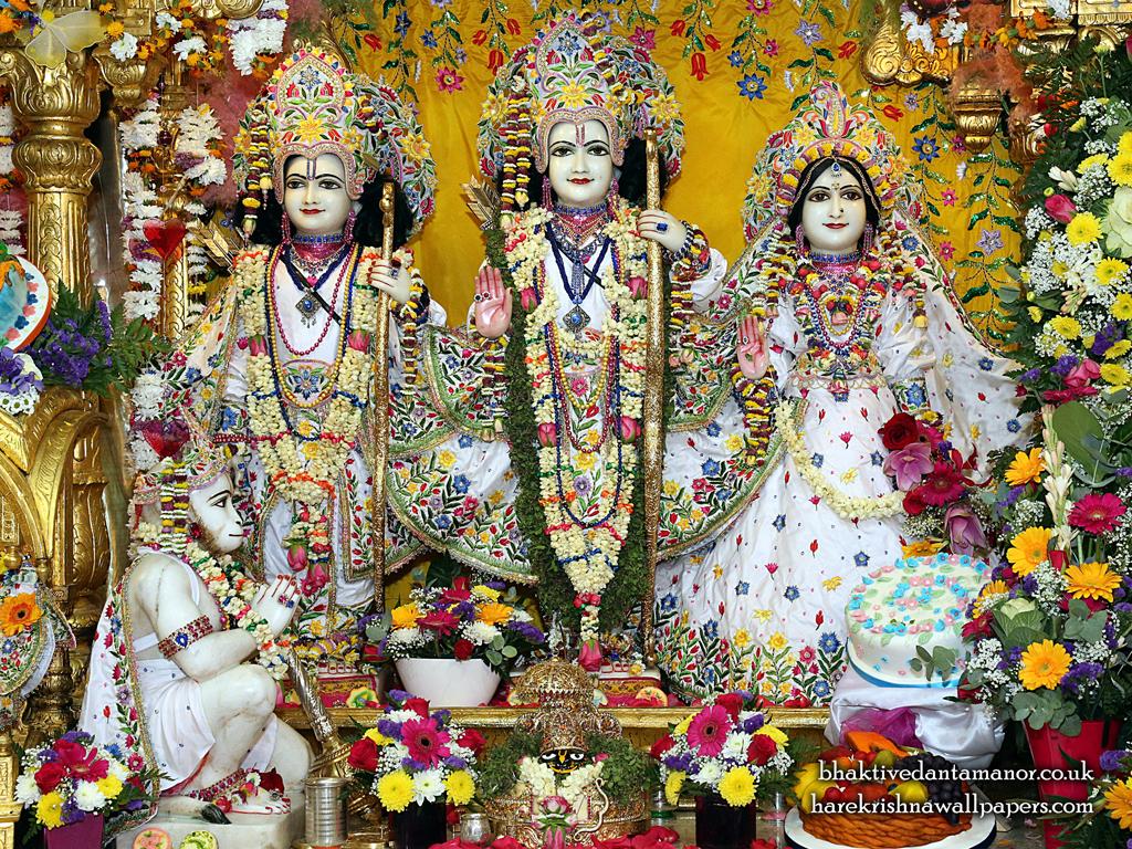Sri Sri Sita Rama Laxman Hanuman Wallpaper (014) Size 1024x768 Download