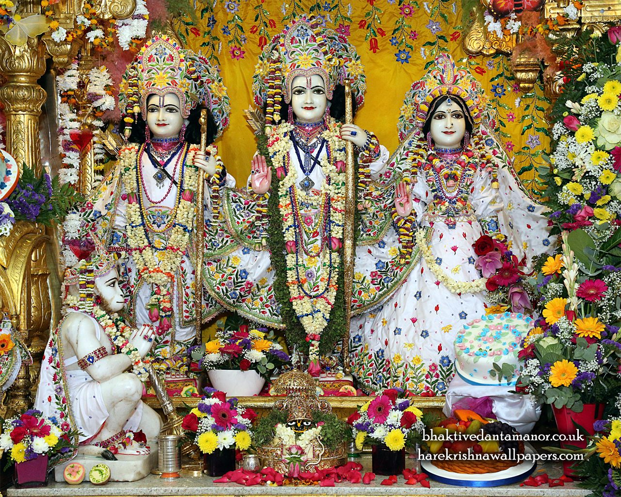 Sri Sri Sita Rama Laxman Hanuman Wallpaper (014) Size 1280x1024 Download