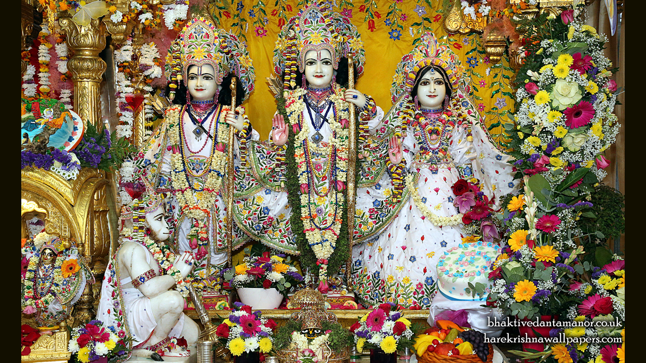 Sri Sri Sita Rama Laxman Hanuman Wallpaper (014) Size 1280x720 Download