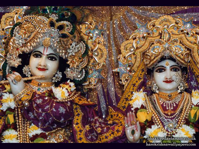 Sri Sri Radha Gokulanand Close up Wallpaper (015)
