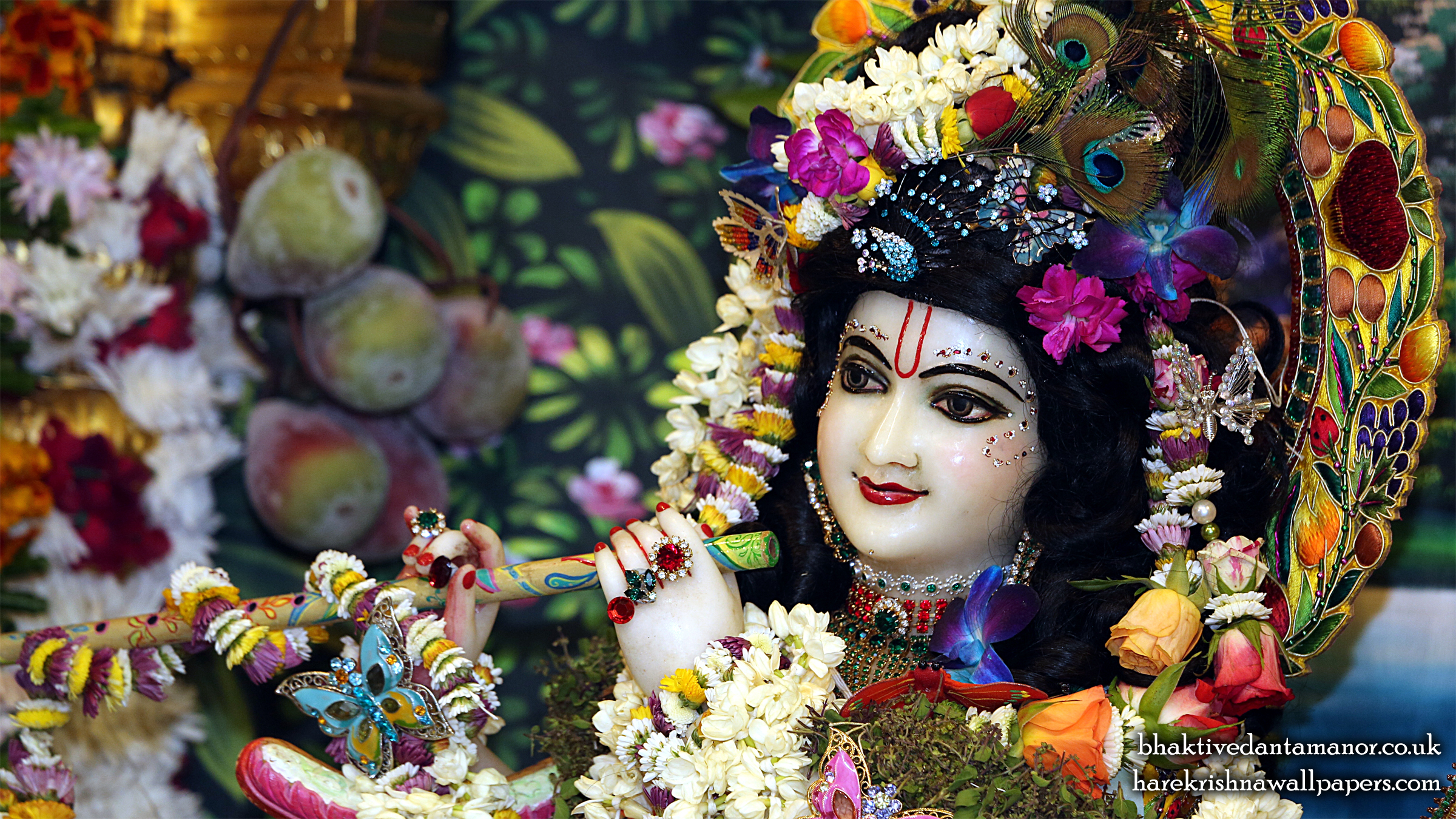 Sri Gokulananda Close up Wallpaper (020) Size 2400x1350 Download
